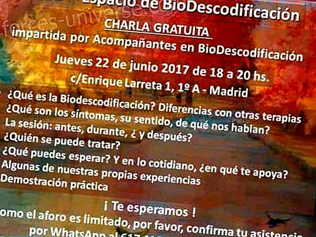 Free talk: DB Espacio Azul - Biodecoding in Madrid (French school) Madrid - June 22, 2017